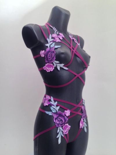 Snow in April by Lovechild Boudoir Bralette + Briefs size 6 for top and bottom. Order in advance