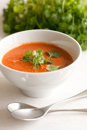 Kikherne-tomaattikeitto - Chocochili (X, bastante ácido)