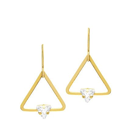 Striking geometric earrings