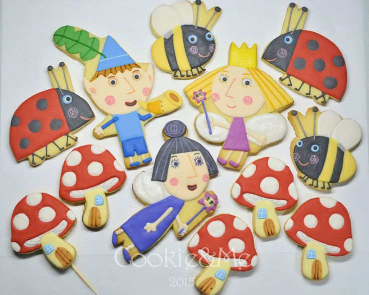 Ben and Holly cookies, Ben and Holly cake toppers