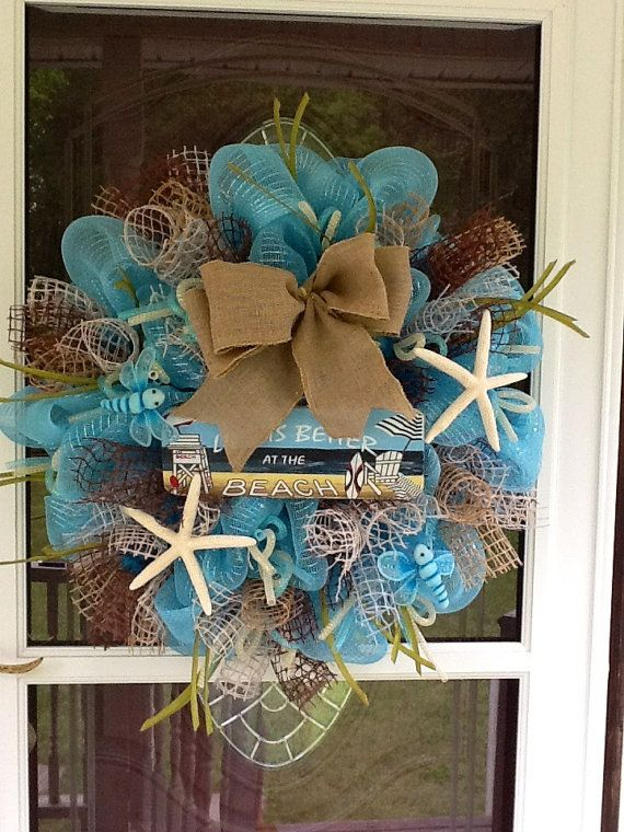 1000 images about beach wreaths on pinterest for Craft wreaths for sale