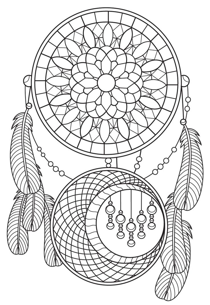 159 Best Dreamcatcher Coloring Pages For Adults Images On