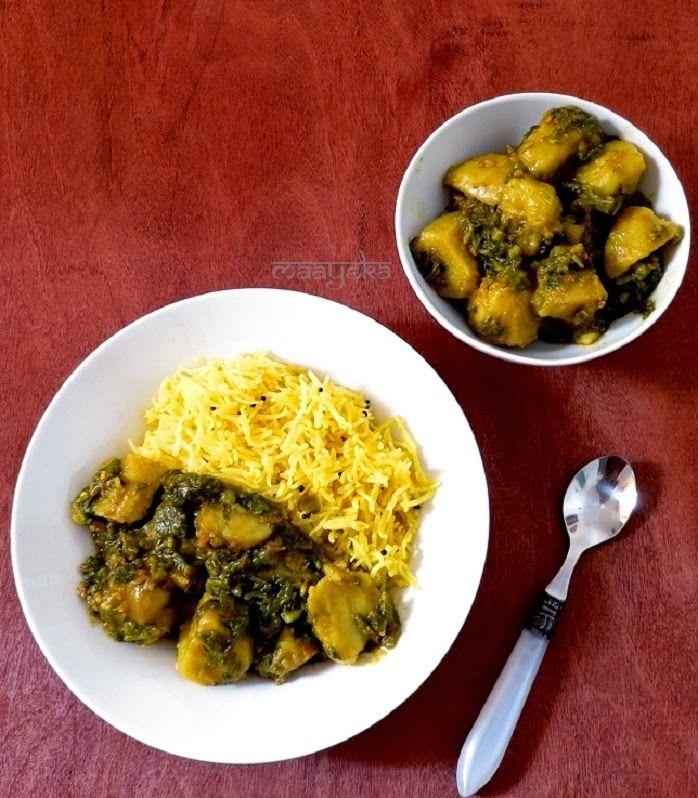Quick and simple spinach and potato curry /Aloo palak ki subzi #potato ...