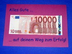 Money gift Geldgeschenk zum Start einer Karriere