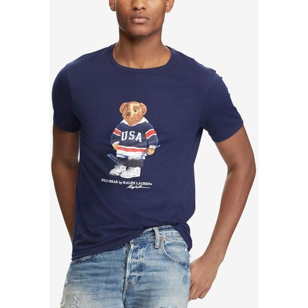Polo Ralph Lauren Men's Custom Slim Fit Polo Bear T Shirt