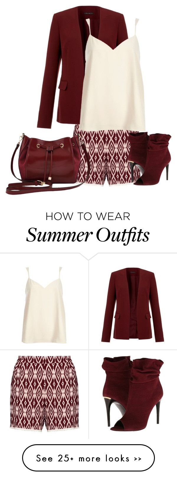 """shorts for fall"" by cm65 on Polyvore featuring Manon Baptiste, Theory, Burberry, M&Co and River Island"