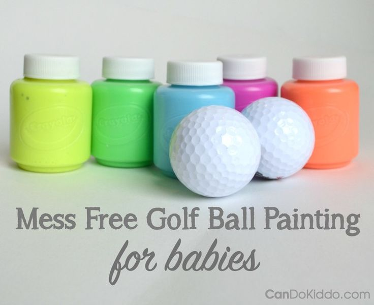 25 unique baby painting ideas on pinterest baby crafts toddler mess free golf ball painting for babies perfect for mothers day or easter gifts negle Images