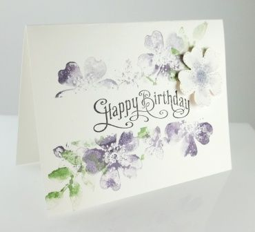 A soft floral look using Morning Meadow hostess set.: Cards Birthday, Birthday Cards, Stampin Up, Water Color, Cards Floral, Card Ideas, Craft Ideas, Floral Cards