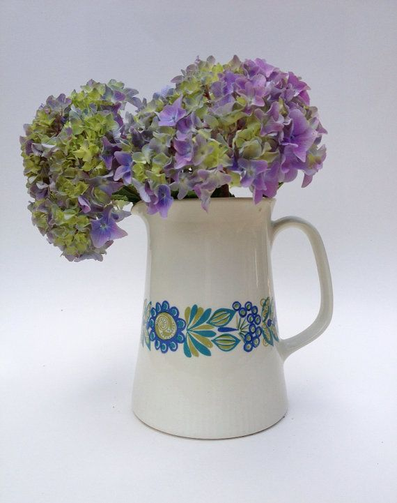 Vintage Flint Figgjo Pitcher / Tor Viking / Flower by MelbaMoon, $28.00