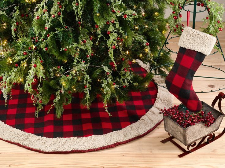 Plaid Christmas Tree Skirt