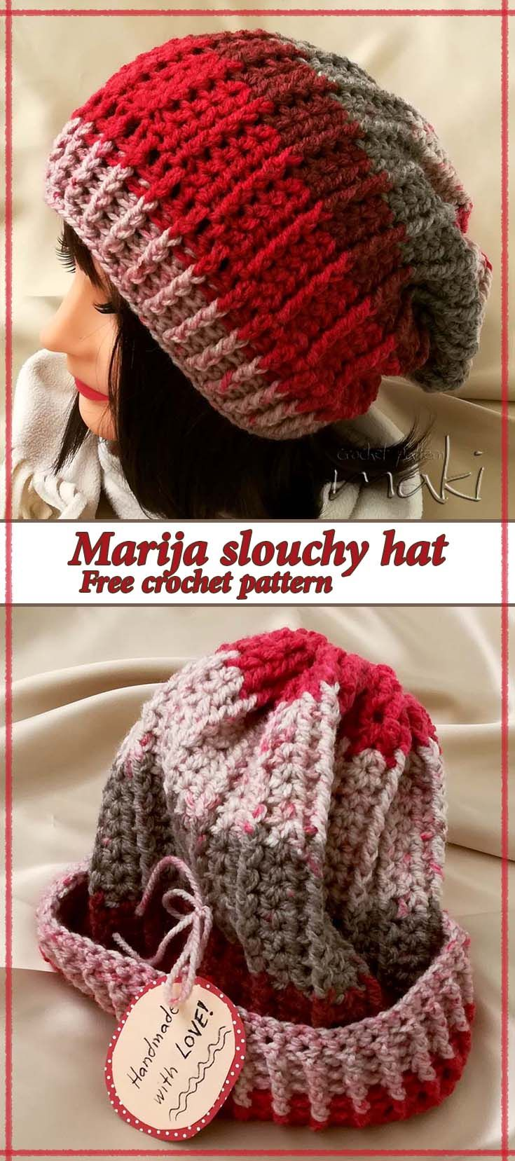 The other day my dear friend Marija called me and asked me to make her a slouchy  hat! She wanted something warm and soft and made with variegated yarn! ... b4970c6ad3c