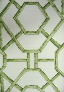 Stroheim Bamboo trellis wall paper, I want this in a bathroom....
