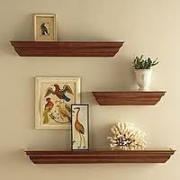 Traditional style floating shelves