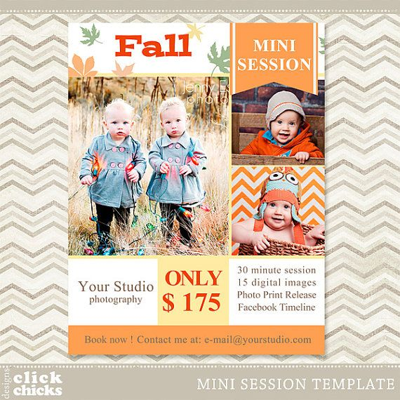 Fall Mini Session Photography Marketing by ClickChicksDesigns, $8.00