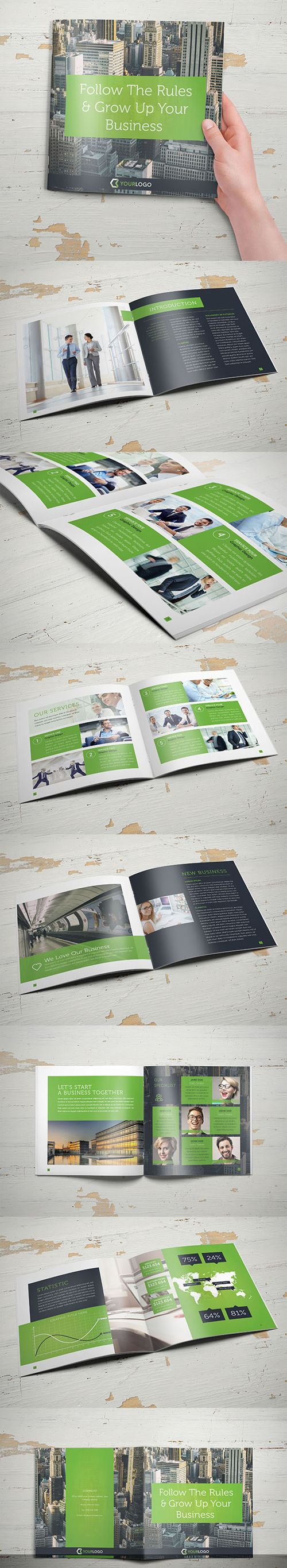 proposal report template%0A Corporate Business Square Brochure Template