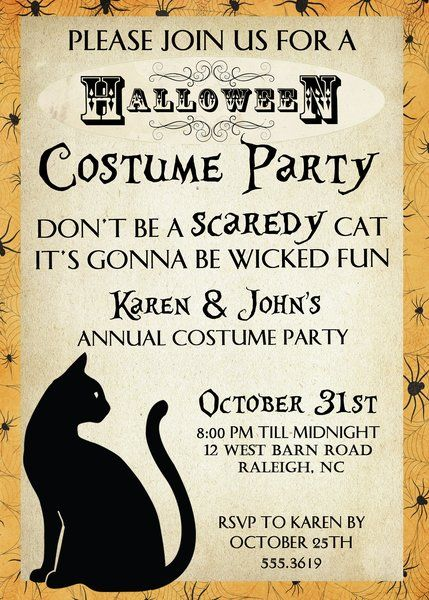 67 best Halloween Party Invitations images on Pinterest Halloween - invitation for halloween party