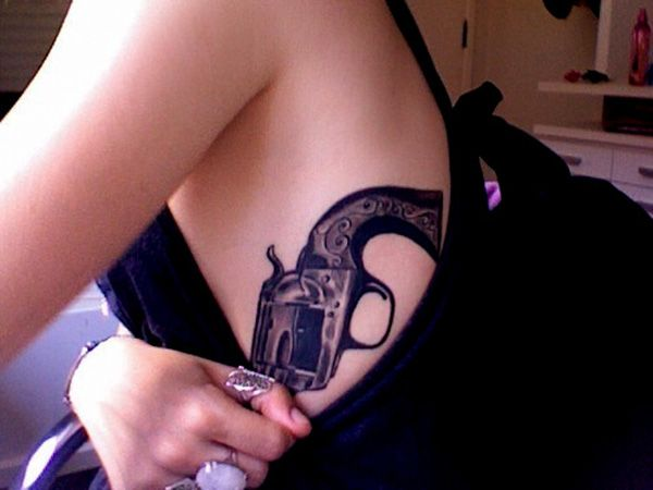 35 Awesome Gun Tattoo Designs | Cuded