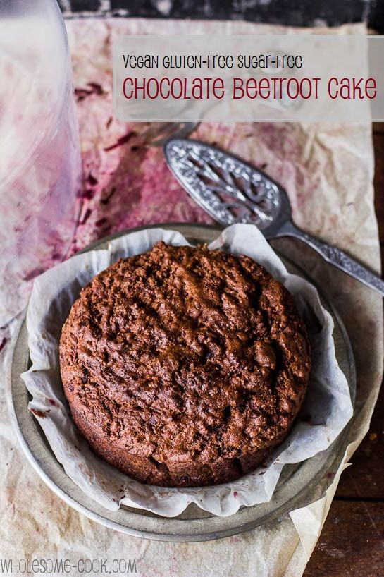 Vegan, gluten-free, sugar-free, chocolate beetroot cake.