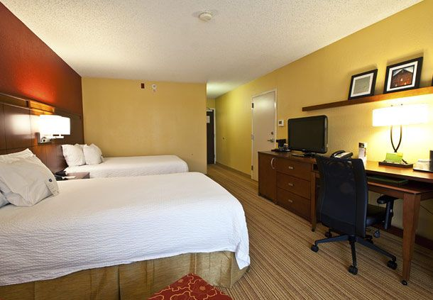 This is a picture of the room at the lovely courtyard Mariott that we will be staying at. Click the room for more information.