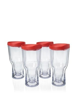 83% OFF AdNArt Set of 4 Brew to Go, Red
