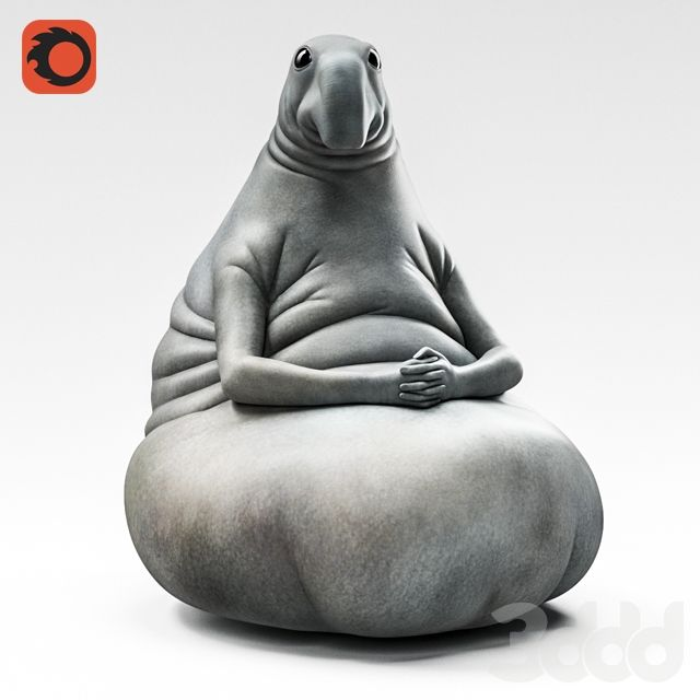 3d модели Скульптуры Homunculus Loxodontus ждун Sms