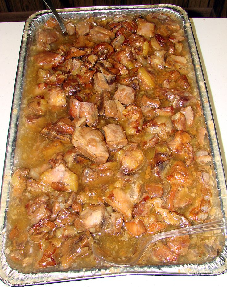 "KAUKAU TIME!--""Kaukau"" is a Hawaiian pidgin slang word meaning ""food"" or ""to eat."": CHINESE SWEET SOUR SPARERIBS"