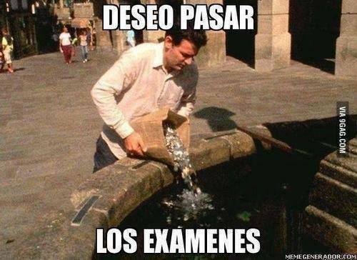 In Spanish from Spain it's more correct to say 'Deseo aprovar los exámenes' due the verb 'pasar' is a synonym of walk.