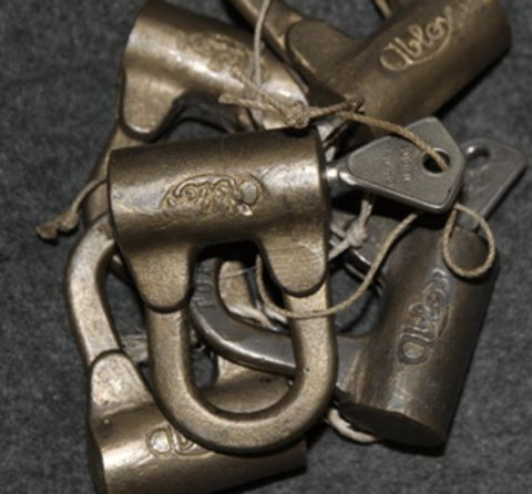 Finnish Army Topography service, Abloy padlock. Issued