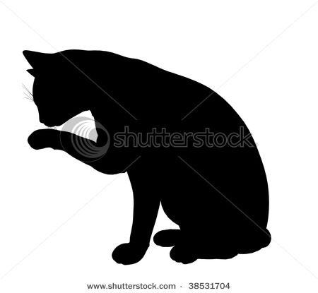 cat silhouette: