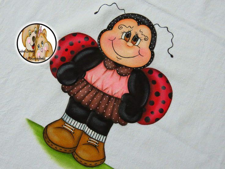 Artes Mariana Santos: Pintando Joaninha