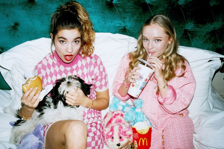 Maddi Waterhouse, the 15-year-old sister of Suki, gets playful in her first global campaign.