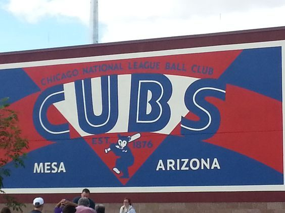 Outside Cubs Park in Mesa. 10 Reasons to Go To Cubs Spring Training - No Bags To Check