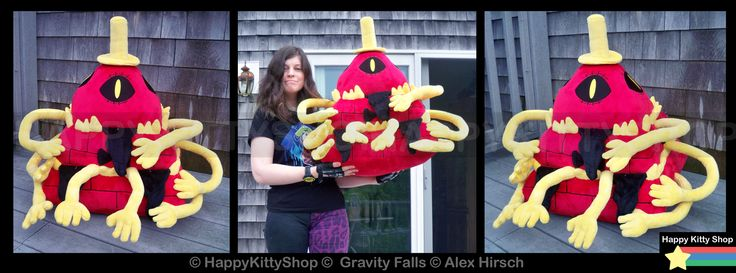Nightmare Bill Cipher Plush by QueenBeePlush on DeviantArt