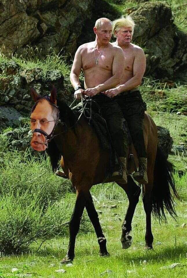 Прикол дня: фотоколлаж Путина с Трампом