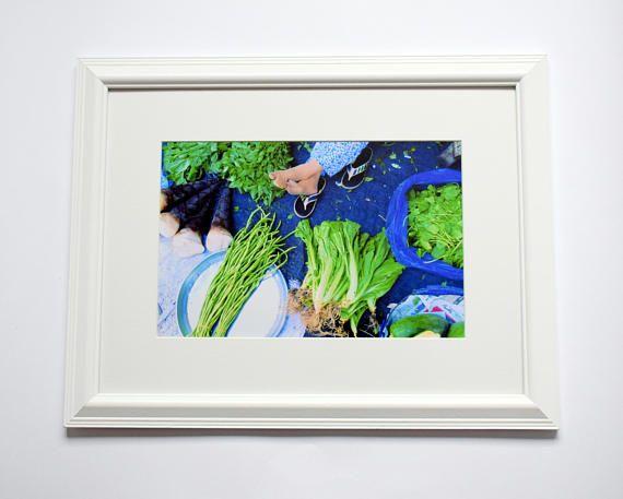 12x16 Framed Vegetable Print Wall Art Vegan Gift Kitchen