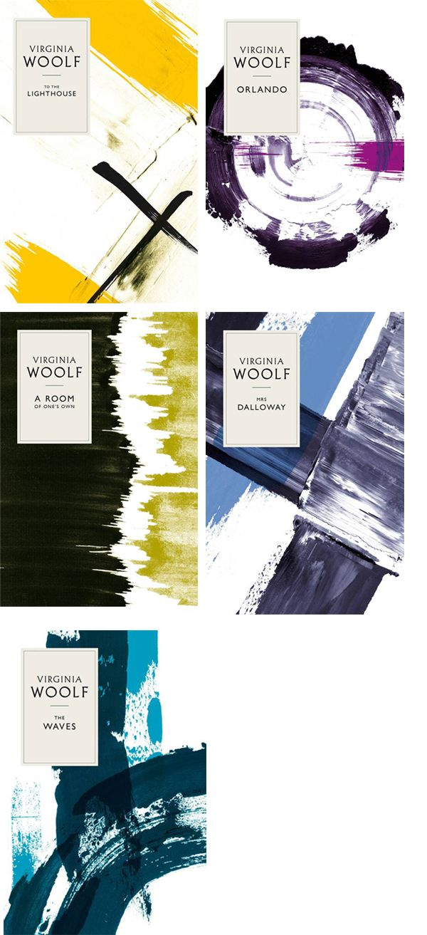 Virginia Woolf redesigns by Angus Hyland, inspired by the textile designs of the Omega Workshop. Published by Penguin UK, 2011.