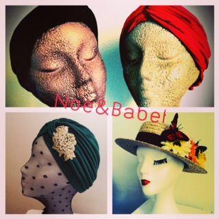 Turbans, headbands and canotiers