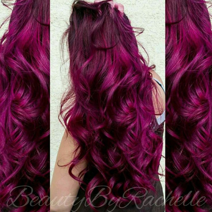 My perfect hair color Joico's Magenta, Amethyst Purple & Hot pink mixed together equal parts