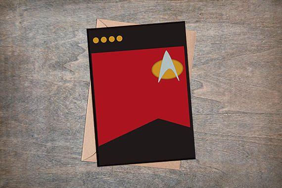 Downloadable Star Trek Card Blank Inside 5x7 Card Star Etsy Star Trek Printables Star Trek Party Star Trek
