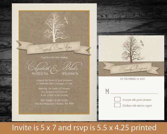 26 best images about Tree Wedding Invitations on Pinterest | Trees ...