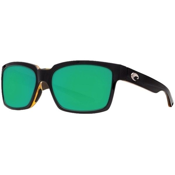 Pre-owned Costa Del Mar Playa Black/green Lens Sunglasses Py80ogmp ($142) ❤ liked on Polyvore featuring accessories, eyewear, sunglasses, black, black sunglasses, black eyewear, costa glasses, green lens glasses and green lens sunglasses