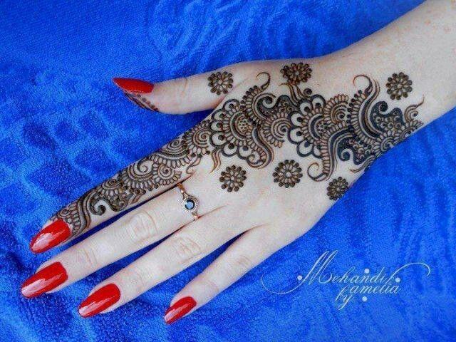 Design of upper side of hand