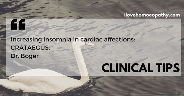 CLINICAL TIPS: #INSOMNIA of Cardiac patients | I LOVE HOMEOPATHY http://ift.tt/29kgApH