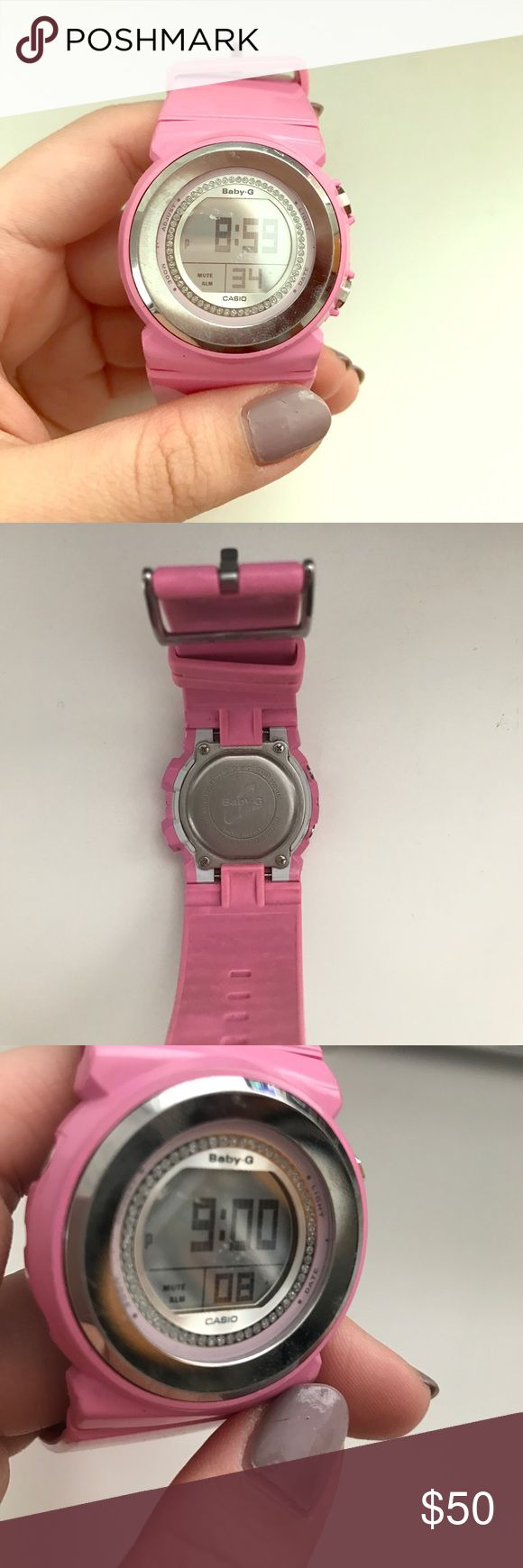 Casio Hot Pink Baby G Watch This was limited edition. Shock resist. Low/no battery. Haven't used it for a few years. Casio Accessories Watches