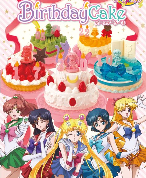 Sailor Moon birthday cakes come with chocolate Senshi, are fun for kids from 1 to 987,654,322,110