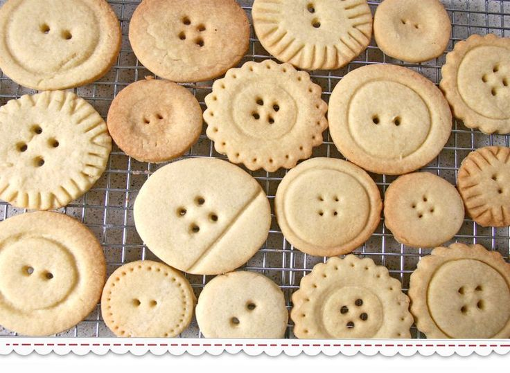Button Cookies - so many different shapes!