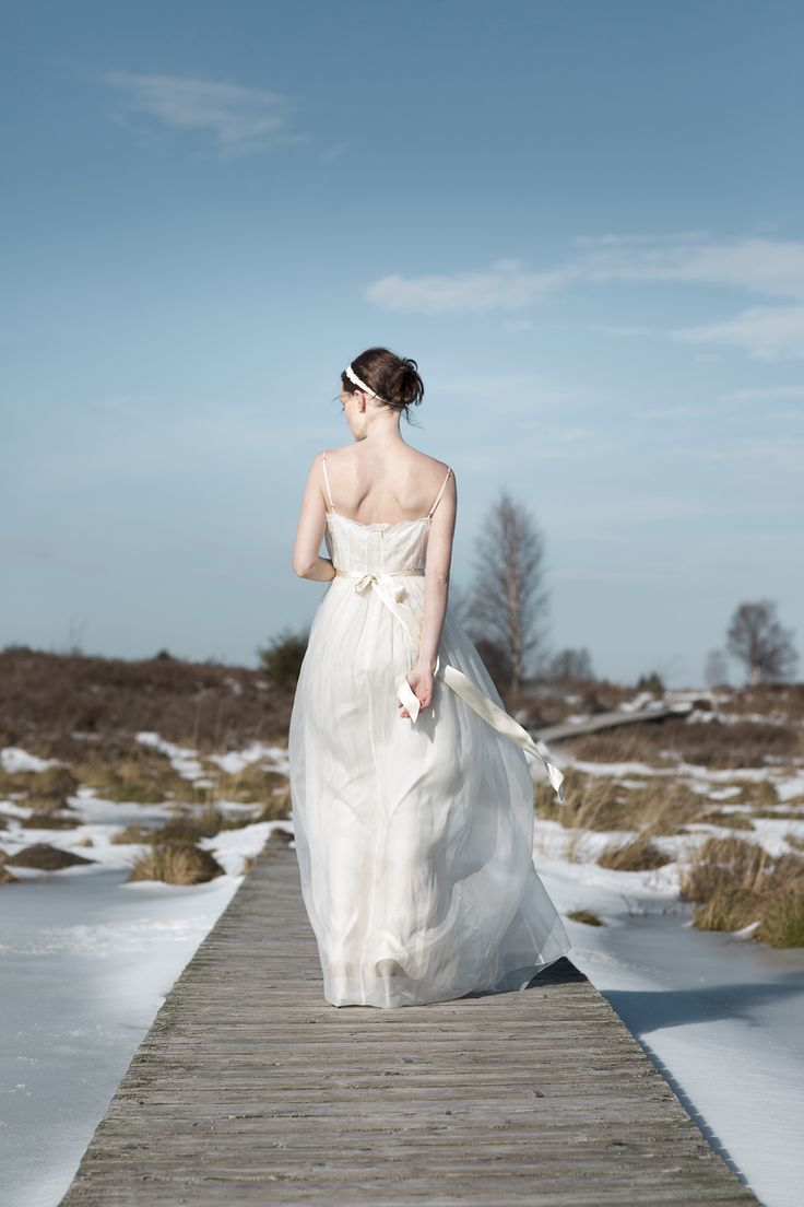 Dreamy Winter Shoot by Tausendschoen Photography featuring Saja Wedding Dress AH6200