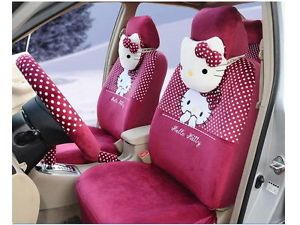 New Hello Kitty Car Seat Covers Accessories Set