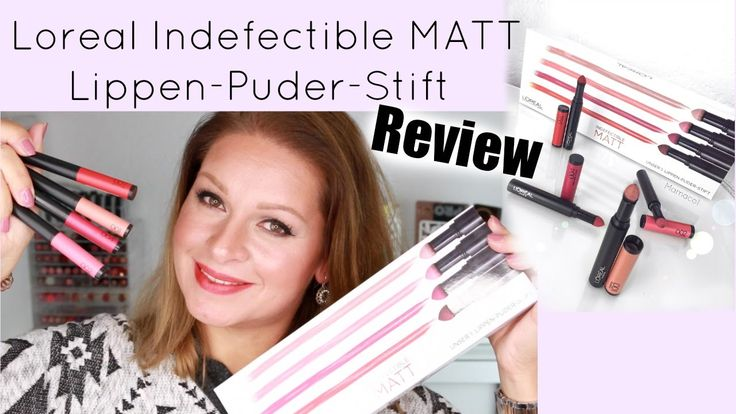 L´oreal Indefectible MATT Lippen-Puder-Stift Review / Mamacobeauty   #lorealparisde #lipstick #review #lips #mattlips #indefectible
