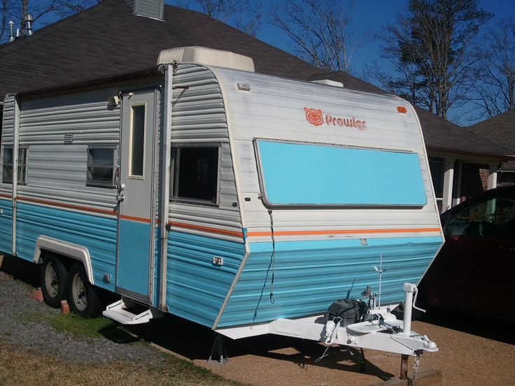 old travel trailers paint colors | ... Prowler pull-behind camper (18 ft.), with custom exterior paint.jpg